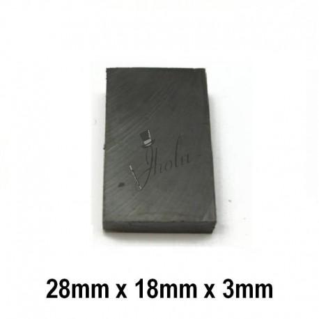 Imán de Ferrita Bloque 28mm x 18mm x 3mm