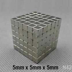 Rompecabeza Magnético NeoCube con Cubos de 5mm x 5mm x 5mm Grado N42
