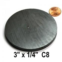 """Imán de Ferrita Disco 3"""" x 1/4"""" (76mm x 6mm aprox) Grado C8"""