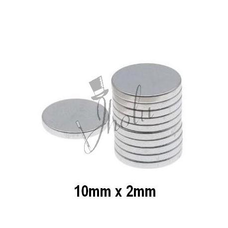 Imán de Neodimio Disco 10mm x 2mm Económico