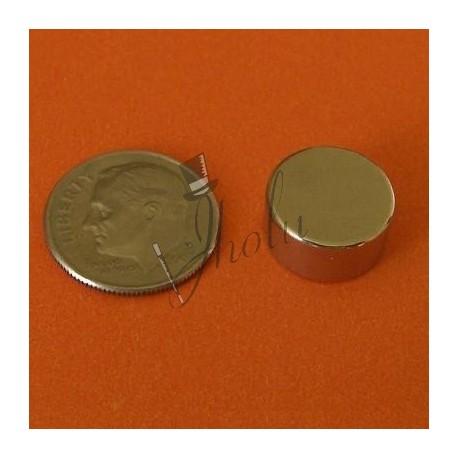 "Imán de Neodimio Disco 1/2"" x 1/4"" (12mm x 6mm aprox) Grado N42"