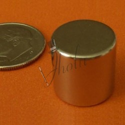 "Imán de Neodimio Disco 1/2"" x 1/2"" (12mm x 12mm aprox) Grado N42"