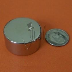 "Imán de Neodimio Disco 1"" x 1/2"" (25mm x 12mm aprox) Grado N42"