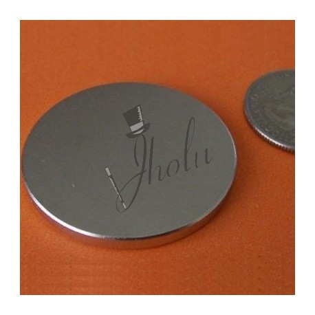 "Imán de Neodimio Disco 1.5"" x 1/8"" (38mm x 3mm aprox) Grado N42"