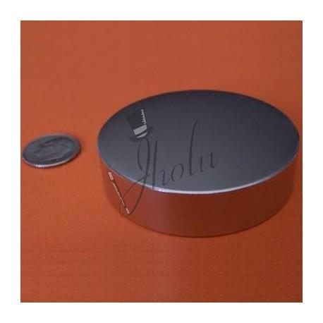 "Imán de Neodimio Disco 2"" x 1/2"" (50mm x 12mm aprox) Grado N42"