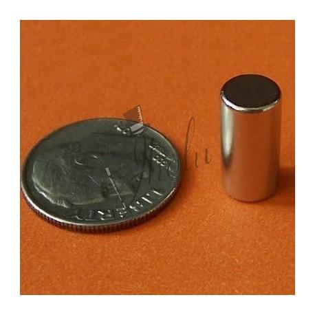 "Imán de Neodimio Cilindrico 1/4"" x 1/2"" (6mm x 12mm aprox) Grado N42"