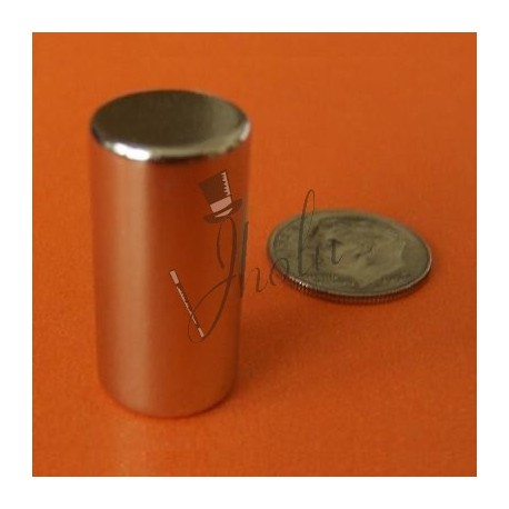 "Imán de Neodimio Cilindrico 1/2"" x 1"" (12mm x 25mm aprox) Grado N42"