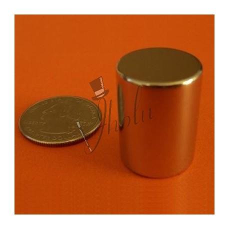 "Imán de Neodimio Cilindrico 3/4"" x 1"" (19mm x 25mm aprox) Grado N42"