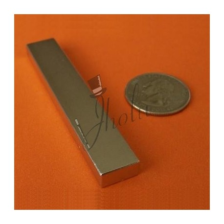 "Imán de Neodimio Bloque 3"" x 1/2"" x 1/4"" (76mm x 12mm x 6mm aprox) Grado N45"