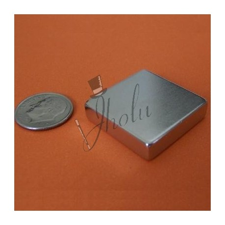 "Imán de Neodimio Bloque 1"" x 1"" x 1/4"" (25mm x 25mm x 6mm aprox) Grado N42"