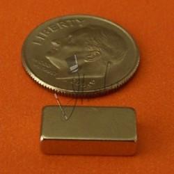 "Imán de Neodimio Bloque 1/2"" x 1/4"" x 1/8"" (12mm x 6mm x 3mm aprox) Grado N42"